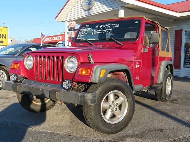 "1998 Jeep Wrangler ""Sport"" 4x4 4.0 w/ 2 Tops/ WHOLESALE DELAWARE/VIRGINIA ONLY"